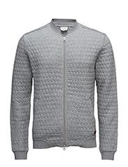 Quilted Jersey Bomber - Grey Melange