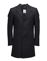 Wool Coat - DARK GREY MELANGE