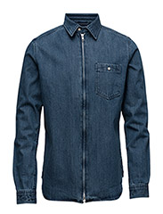 Denim Shirt W/Zipper - GOTS - PEACOAT