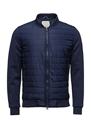 Quilted Jacket w/Double Face Sleeve - PEACOAT