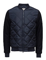 Bomber Jacket W/Wool Sleeves - GRS - TOTAL ECLIPSE