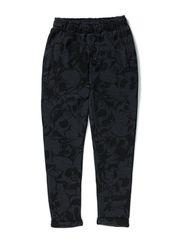 Sweat pants - dark grey melange