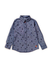 Shirt l/s - worker blue