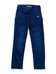 PIXEL jeans - coated blue denim