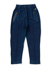 pants - piqu_ blue