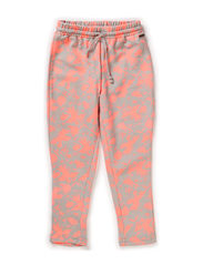 Pants, Loose fit - AOP coral pink