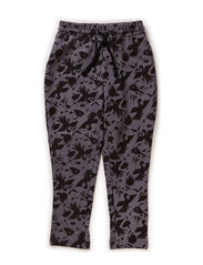 Pants, Loose fit - AOP dark grey