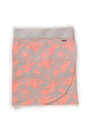 Skirt - AOP coral pink