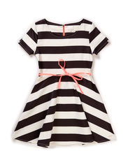 Dress - Striped black/off white