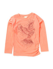 tee l/s - coral