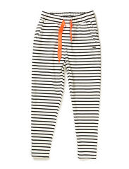 Loose pants - Striped black/off white