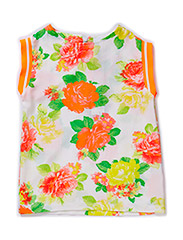 Top - all over print flower