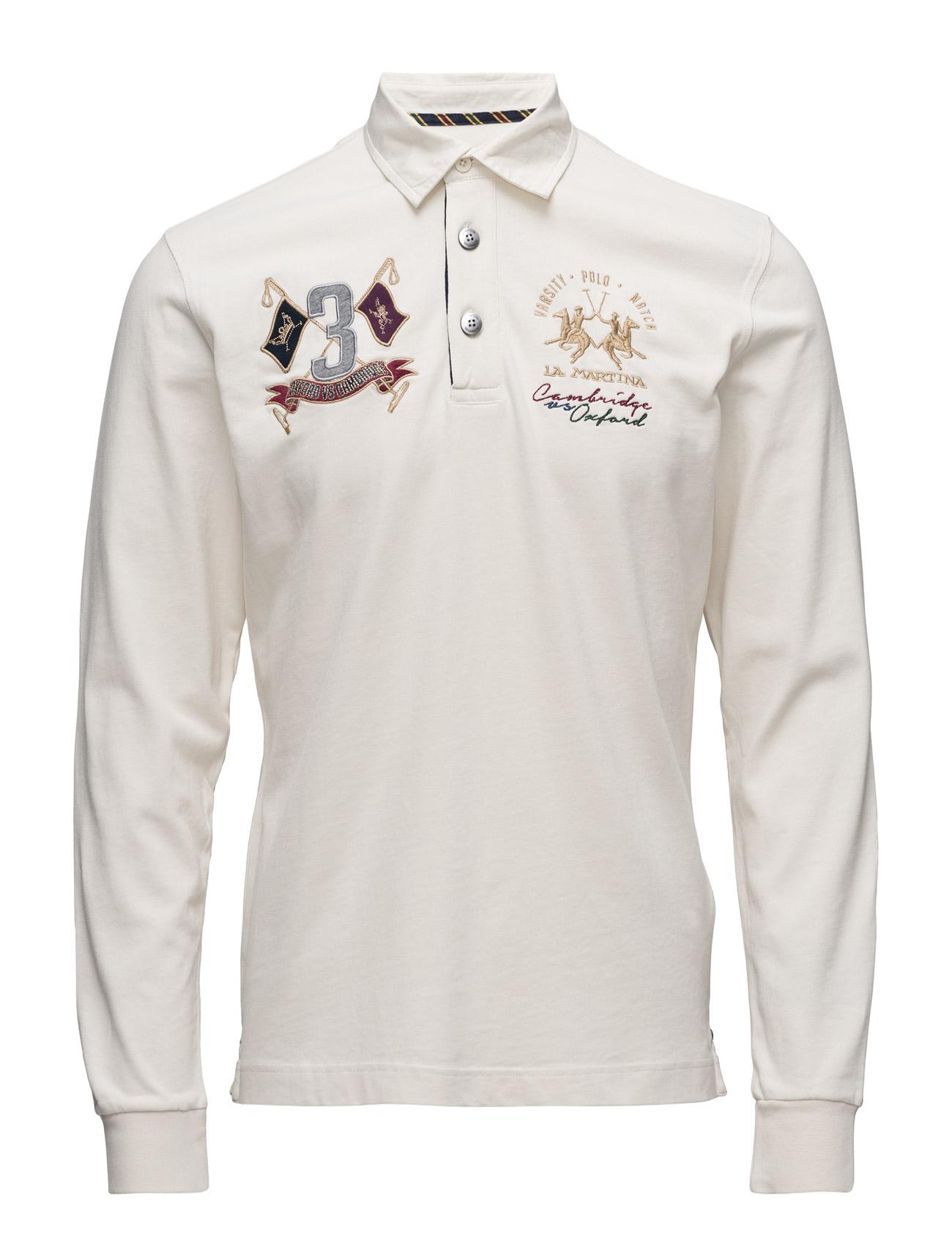 La Martina-Man Polo L/S Heavy Jersey La Martina Længærmede polo t-shirts til Herrer i
