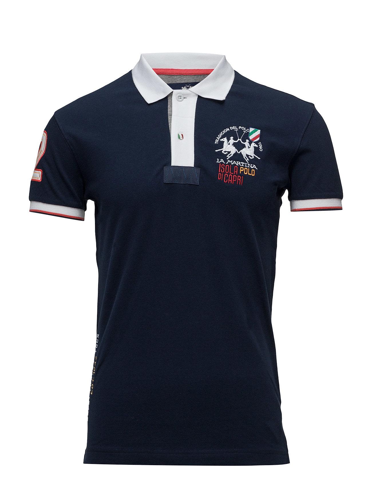 La Martina-Polos La Martina Kortærmede polo t-shirts til Herrer i Navy blå