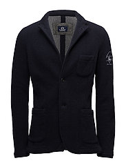 MAN JACKET BOILED WOOL DOUBLE - NAVY