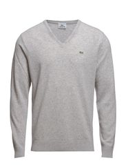 V-NECK SWEATER - SILVER CHINE