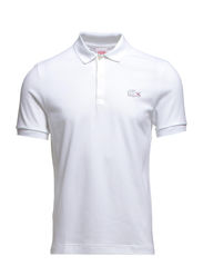 SHORT SLEEVED RIBBED COLLAR SHIRT - WHITE/WHITE