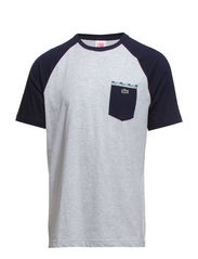 TEE-SHIRT - PALADIUM CHINE/NAVY BLUE-