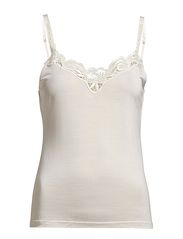 Camisole with lace - Off-white