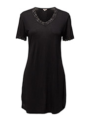 Nightgown w.sleeve - BLACK