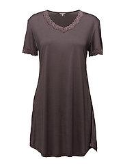 Nightgown w.sleeve - COFFEE