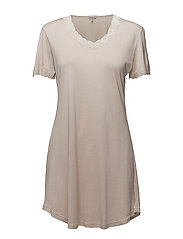 Nightgown w.sleeve - SKIN