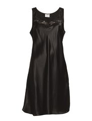 Nightgown with lace - Black