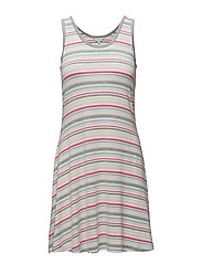 Dress - PINK & GREY STRIPE