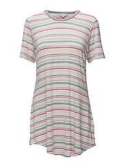 Big shirt - PINK & GREY STRIPE