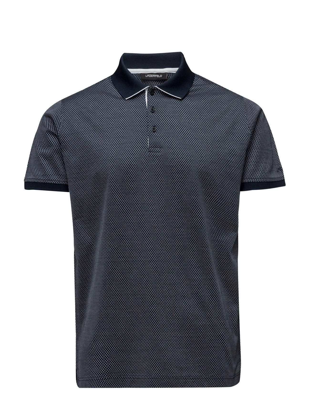 Polo Button Lagerfeld Kortærmede polo t-shirts til Herrer i Navy blå