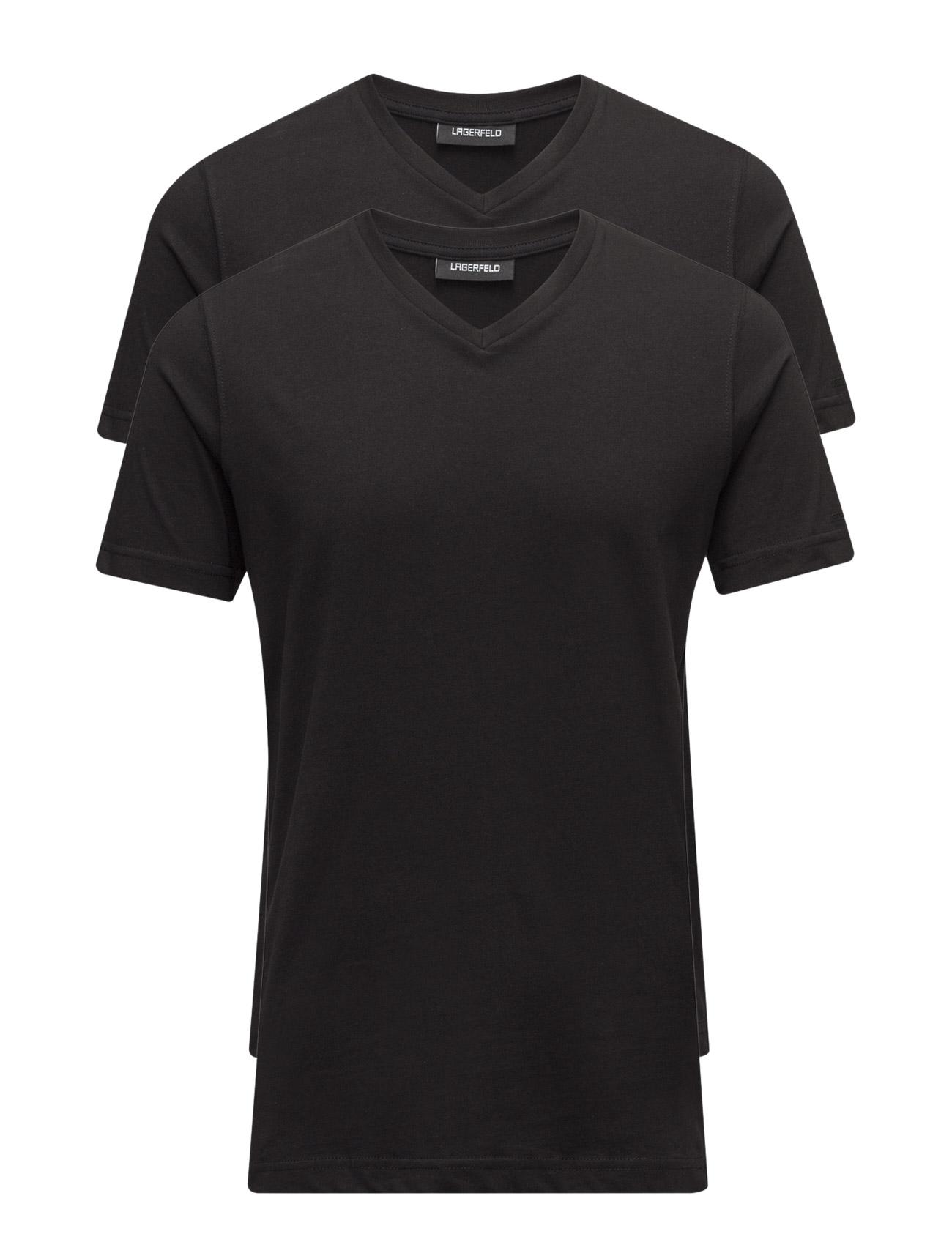 Duo Pack V-Neck Lagerfeld T-shirts til Mænd i Sort