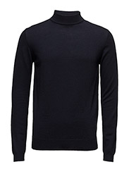 KNIT TURTLE NECK - 690-NAVY
