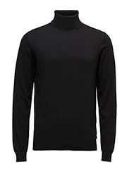 KNIT ROLLNECK - 990-BLACK