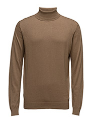 KNIT ROLLNECK - CAMEL