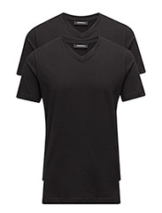 DUO PACK V-NECK - 990-BLACK