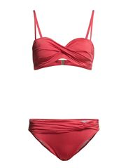 Wire-Bandeaubikini - red
