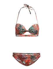 Push-up-Bikini LASCANA - olive-print