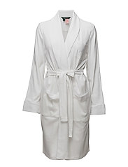 LRL ESSENTIAL QUILTED COLLAR ROBE - WHITE
