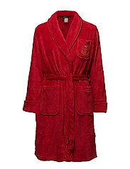 LRL GILDED AGE COLLAR SOFT ROBE SOLID - RED