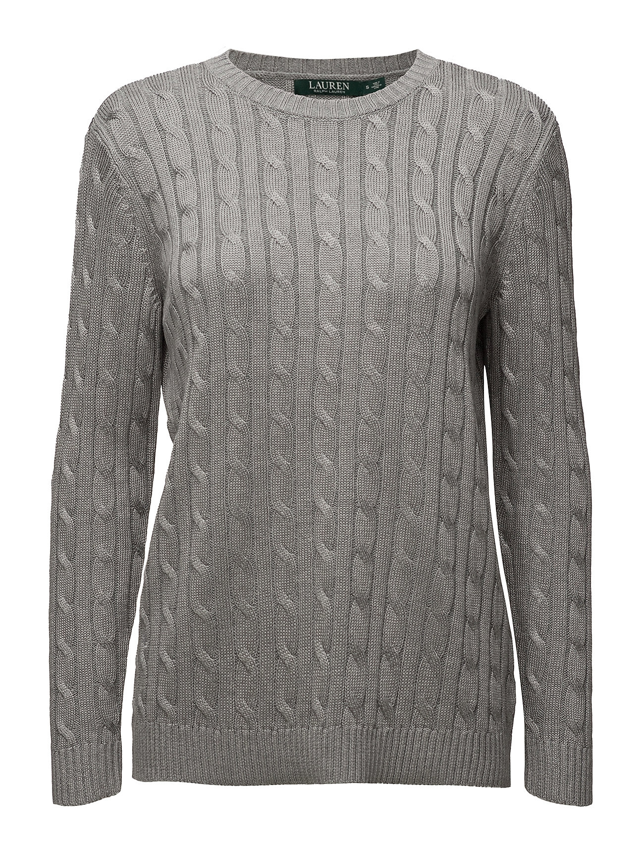 Monogram Cable-knit Sweater (Sterling Grey Hea) (77.35 €) - Lauren ...