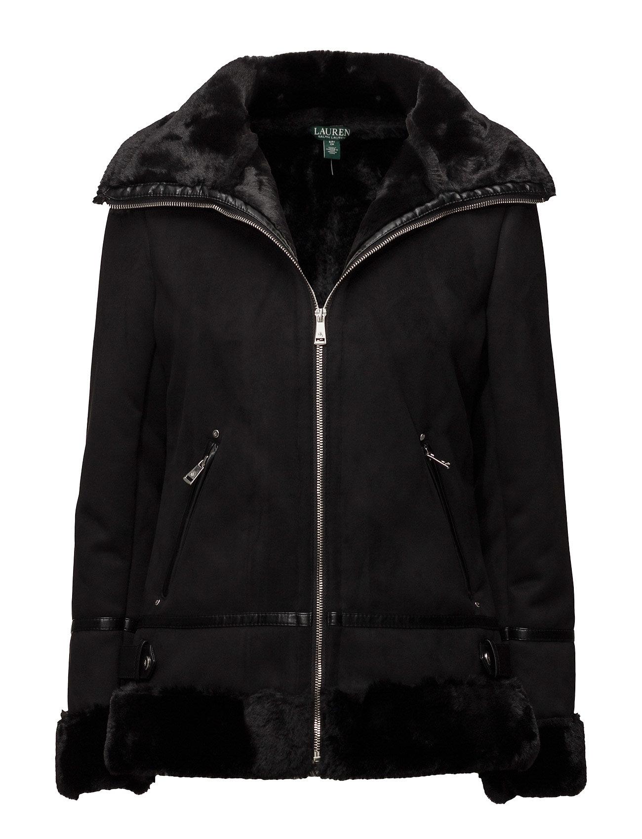 Lauren Ralph Lauren Faux-Shearling Moto Jacket
