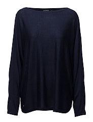 Silk-Blend Boatneck Sweater - RL NAVY