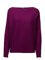 STRETCH COTTON MODL-L/S DOLMAN - BERRY JAM