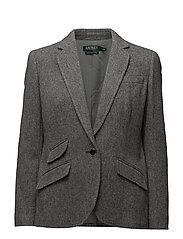 Single-Button Tweed Blazer - STERLING GRY HTR/