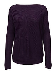 Ribbed Pullover - DARK MULBERRY