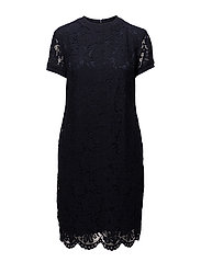Lace T-Shirt Dress - RL NAVY