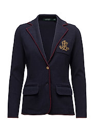 Bullion-Crest Sweater Blazer - RL NAVY/RED SANGR
