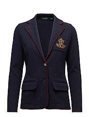 Bullion-Crest Sweater Blazer - RL NAVY/RED SANGR