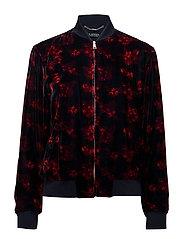 Floral Velvet Bomber Jacket - MULTI
