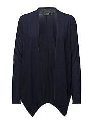 Silk-Blend Open-Front Cardigan - RL NAVY